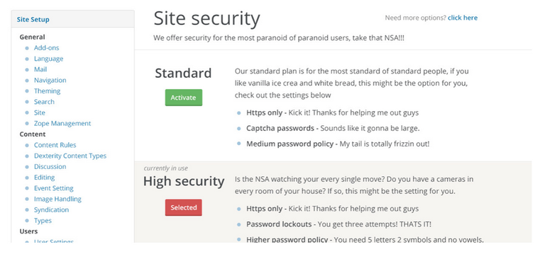 plone 5 security